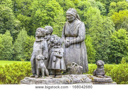 Grandmother's valley- statues, Ratiborice, Czech Republic, summer season