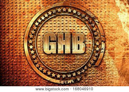 ghb, 3D rendering, grunge metal stamp