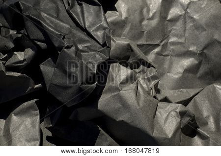 Crumpled Up Thick Black Paper
