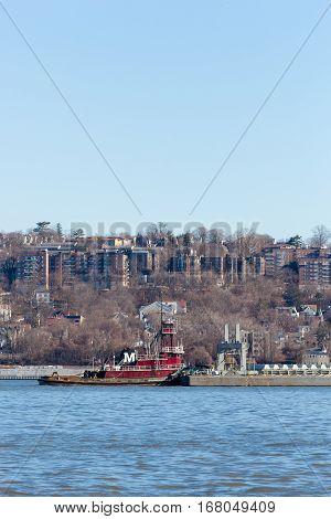 Joan Moran Tugboat On The Hudson River