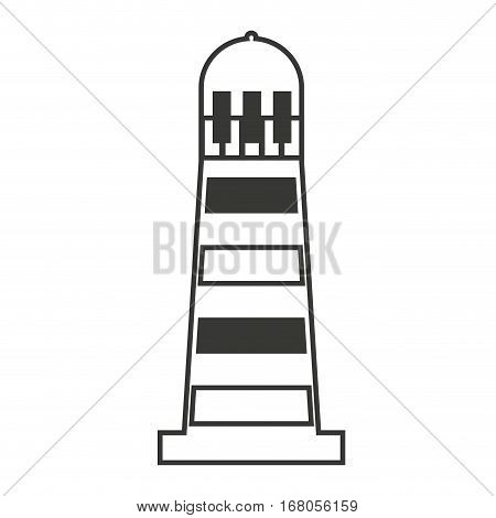 light house maritime isolated icon vector illustration design