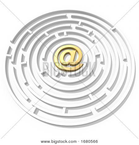 Email Symbol Maze