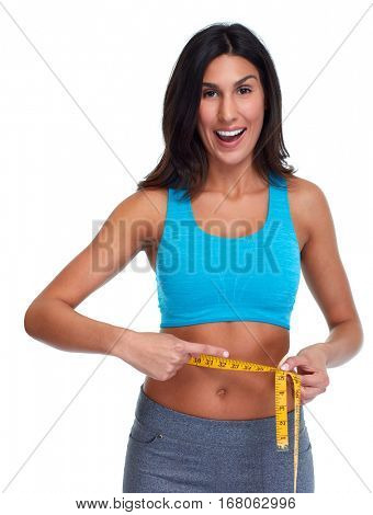 Girl losing weight.