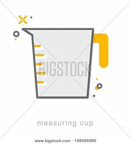 Thin line icons Linear symbols Measuring cup