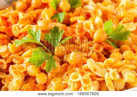 Chickpeas Tomato Sauce Pasta