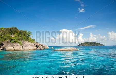 Similan islands in Andaman sea Thailand, in holiday