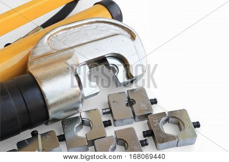 Hydraulic Cable Crimping Tool Set whit Space for Texts