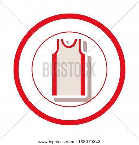 sleeveless shirt clothes icon vector illustration graphic design