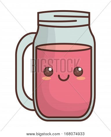 smoothie kawaii icon image vector illustration design