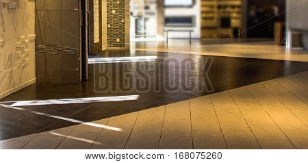 Marble and granite floor tiles for outside and inside pavement flooring. Natural durable pavement stone texture for floor wall or backsplash. Pattern of stone tiles staggered and strait.