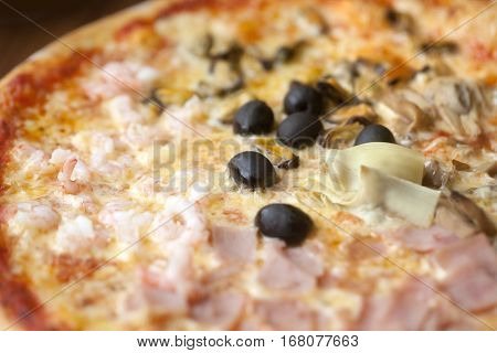 aerial view of a Pizza