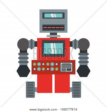 robot machinery automation electronic vector illustration eps 10