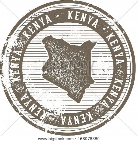 Vintage Kenya African Country Tourism Stamp