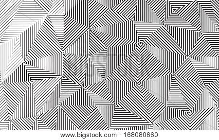 Vector line art. Geometrical linear background texture.