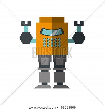 robot operator technology artificial shadow vector illustration eps 10