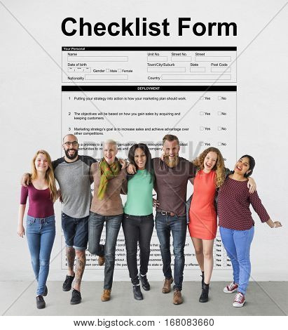 Checklist Form Document Questions Concept