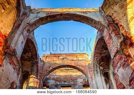 Ruins Of Old Orthodox Church In Belarus