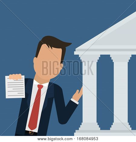 man business bank document design vector illustration eps 10