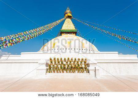 Boudhanath Stupa Second Level Eyes Nobody H