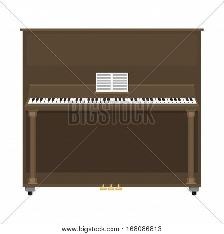 Grand piano musical keyboard classical instrument vector illustration. Classic musician entertainment creative keys tool. Performer shiny design.