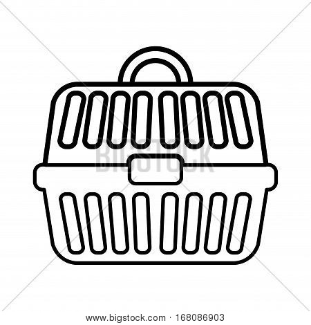 cage pet accesory icon vector illustration graphic design