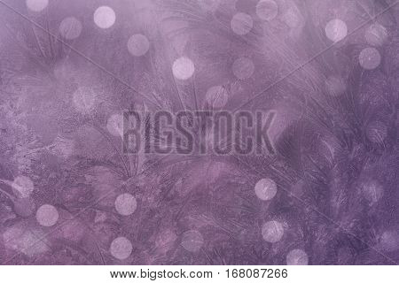 Pink-violet background. blur background. colorful background in violaceous colors the bokeh effect. color composition frosty pattern . for design. Nature.