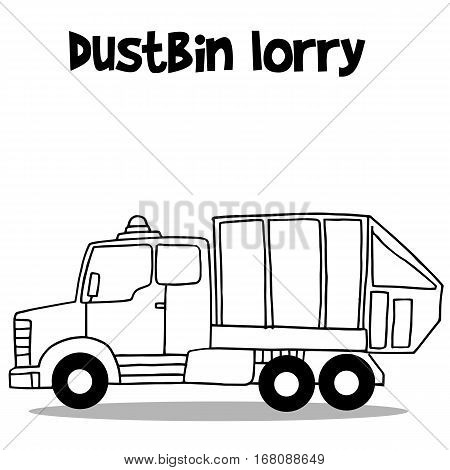 Dustbin lorry of transportation collection vector art
