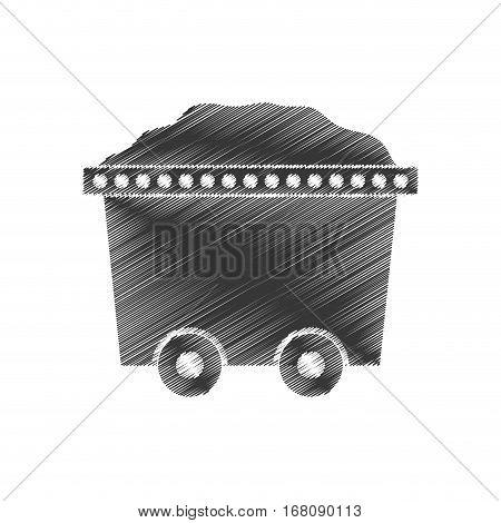 trolley car mining mineral full stock vector illustration eps 10