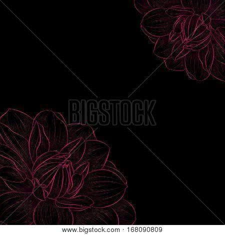 Floral background. Element for design.