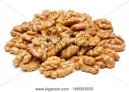 Walnuts isolated on the white background, clipping path included.