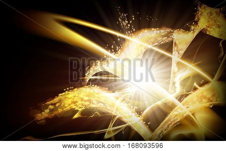 Golden Sparkling  Element