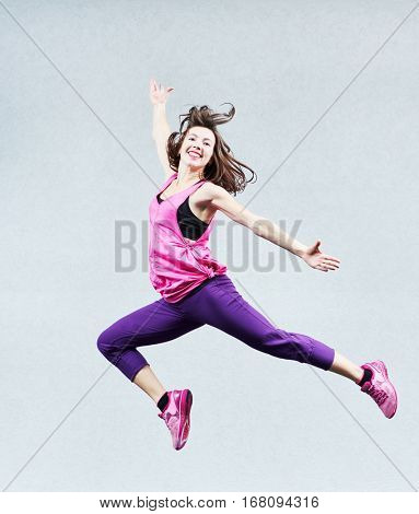 aerobics jumping fitness exercises
