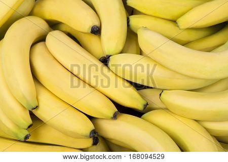 Fresh bananas pile