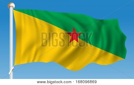 Flag of French Guiana - vector illustration