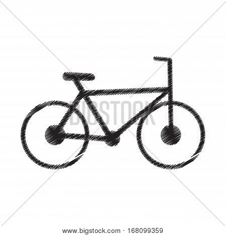 bicycle transport sport recreational pictogram draw vector illustration eps 10
