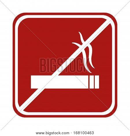 restricted cigarette smoke square sign vector illustration eps 10