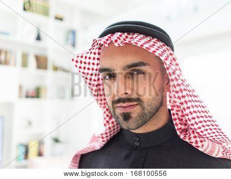 Confident Arabic Middle Eastern man portrait