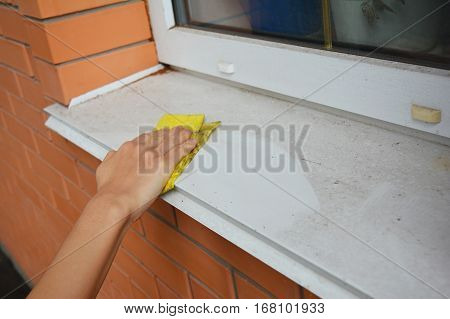 Window Sill Cleaning. Cleaning Your Windows and Window Sills.