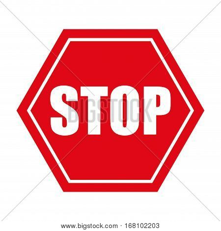 stop danger precaution sign traffic vector illustration eps 10
