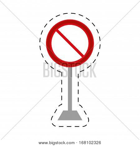 traffic prohibited sign road pole vector illustration eps 10
