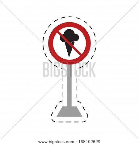 traffic prohibited ice cream food vector illustration eps 10