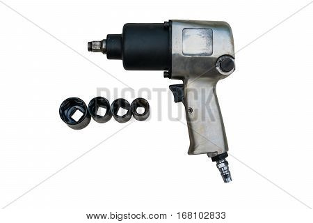 pneumatic wrench tool for industrial on white