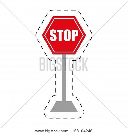 traffic prohibited stop danger precaution vector illustration eps 10