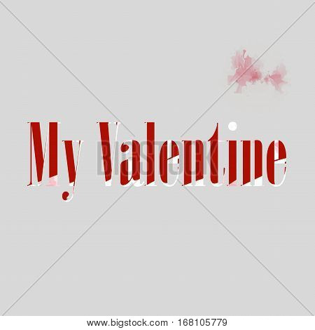 Valentine card created concept background stock vector