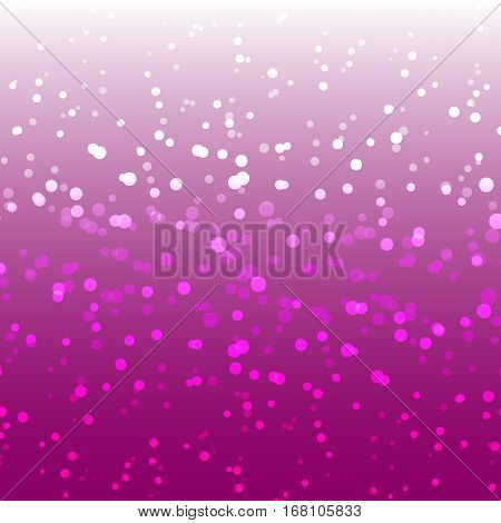 Winter pink snow romantic abstract background stock vector