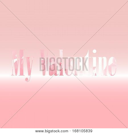 My valentine card on sweet background stock vector