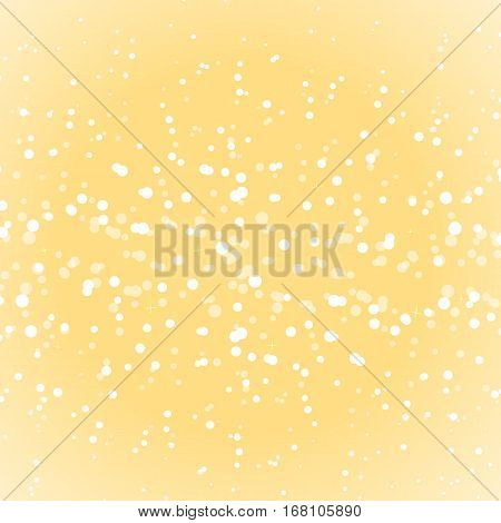 Gold snow glitter abstract background stock vector