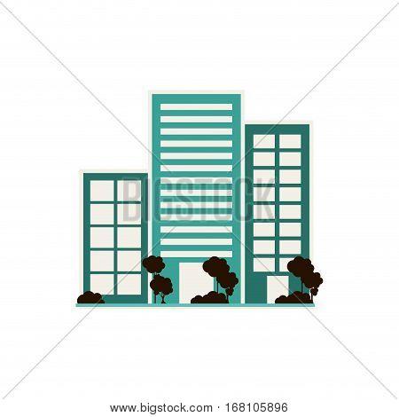City Urban buildings vector illustration graphic design