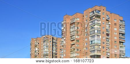 Russian Old Multi-storey Building