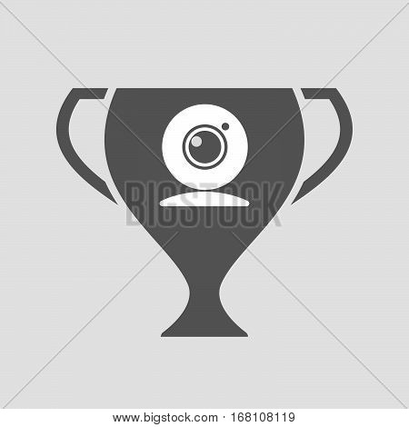Isolated Award Cup With A Web Cam